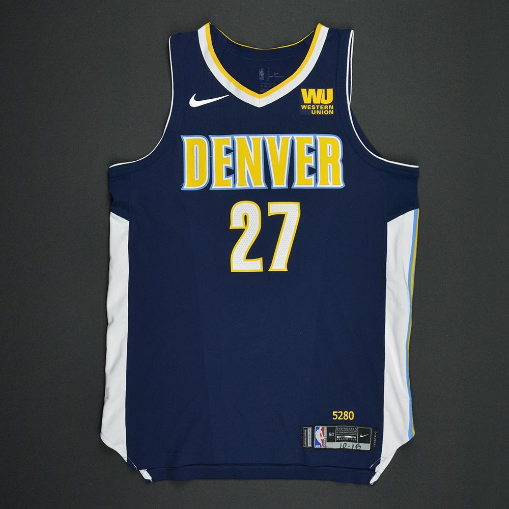 f53d7b1e76cf ... 2018 19 icon edition replica jersey 679be discount code for authentic jersey  jamal murray denver nuggets kia nba tip off 2017 game worn ...