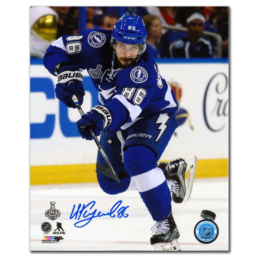 Nikita Kucherov Tampa Bay Lightning ACTION Autographed 8x10