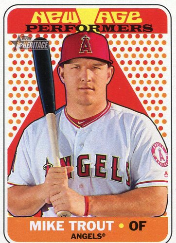 Photo of 2018 Topps Heritage New Age Performers #NAP2 Mike Trout