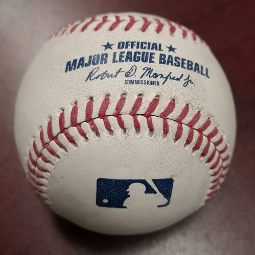 Photo of Authenticated Game Ready Baseball - Mookie Betts Hit for the Cycle in the Game (August 9, 2018).