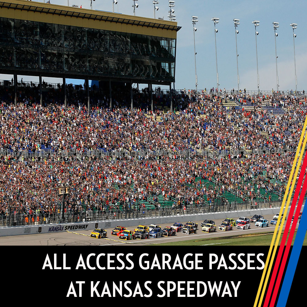 All Access Garage Passes at Kansas Speedway for the entire race weekend!