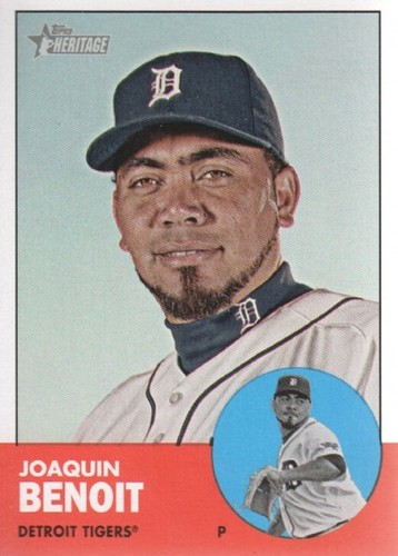 Photo of 2012 Topps Heritage #379 Joaquin Benoit