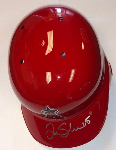 Photo of Tim Salmon Autographed Angels Batting Helmet