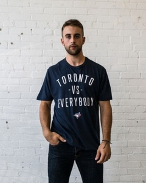 Toronto Blue Jays Toronto VS. Everybody Navy T-Shirt by Peace Collective