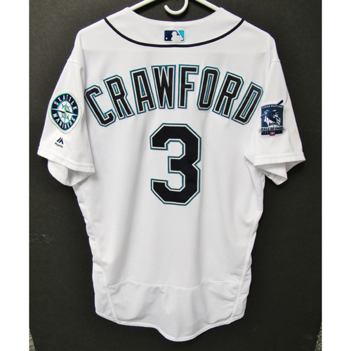 Photo of Seattle Mariners 2019 J.P. Crawford Game-Used Jersey - Edgar Martinez Hall of Fame Celebration Weekend - August 9-11
