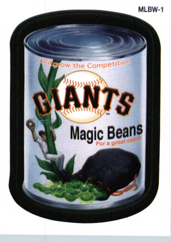 Photo of 2016 Topps MLB Wacky Promos #MLBW1 Giants/Magic Beans
