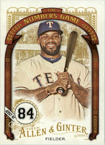 Photo of 2016 Topps Allen and Ginter The Numbers Game #NG88 Prince Fielder