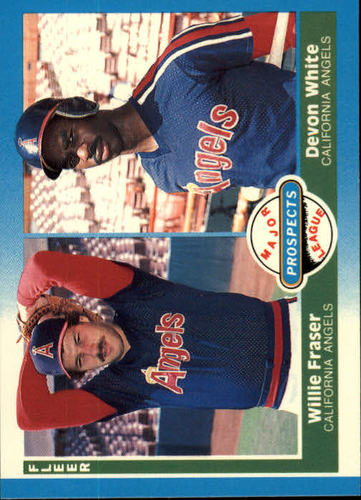 Photo of 1987 Fleer #646 Devon White RC/Willie Fraser RC