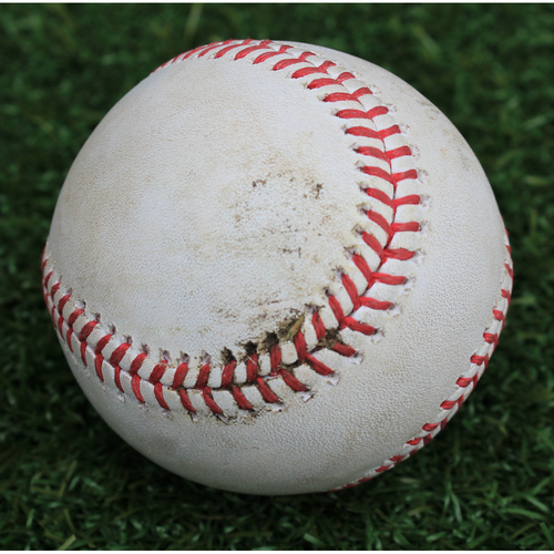 Photo of Game-Used Baseball: Cheslor Cuthbert 45th Career Double (CLE @ KC - 7/4/19)