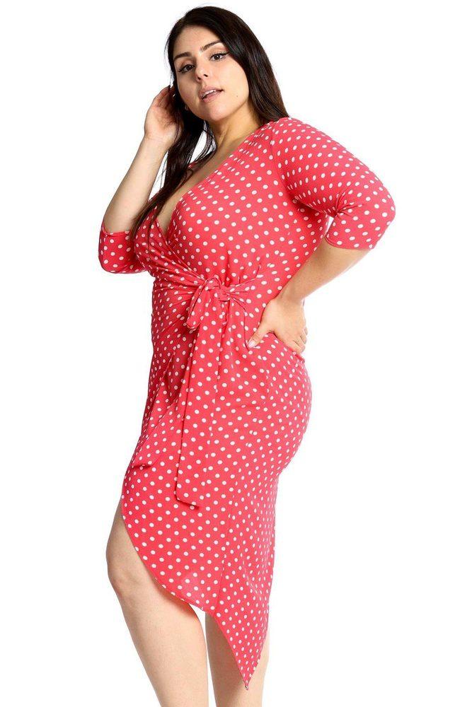 Photo of Serenity Polka Dots Chiffon Wrap Dress