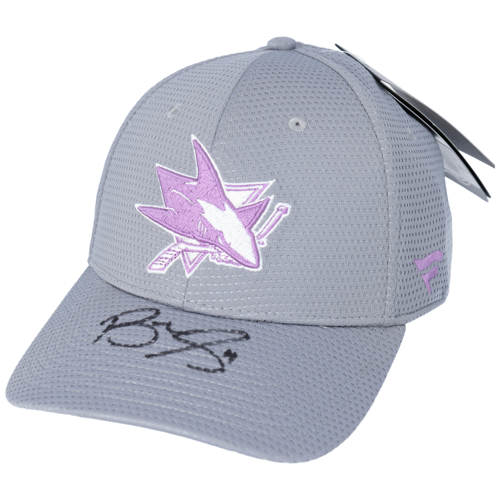 Brenden Dillon San Jose Sharks Autographed Hockey Fights Cancer Cap - NHL Auctions Exclusive