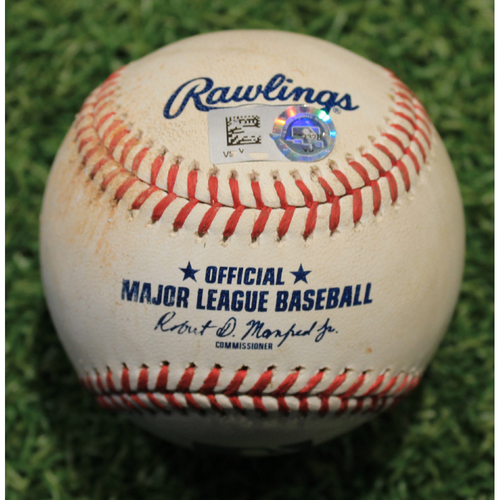 Photo of Game-Used Baseball: Erik Gonzalez 31st Career Double (PIT @ KC 9/12/20)
