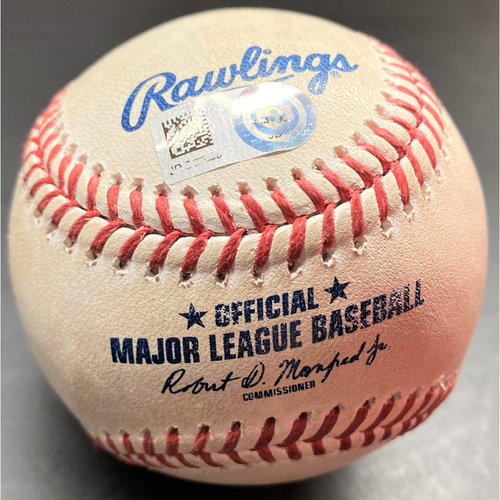 Photo of Game-Used Baseball: Jose Ramirez Cleveland Indians Home Run (MLB AUTHENTICATED)