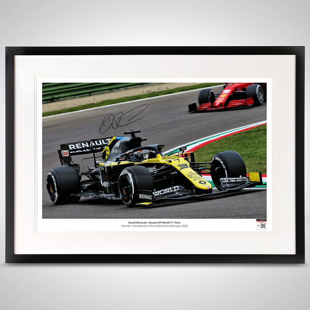 Daniel Ricciardo 2020 Framed Signed Photograph - Imola GP