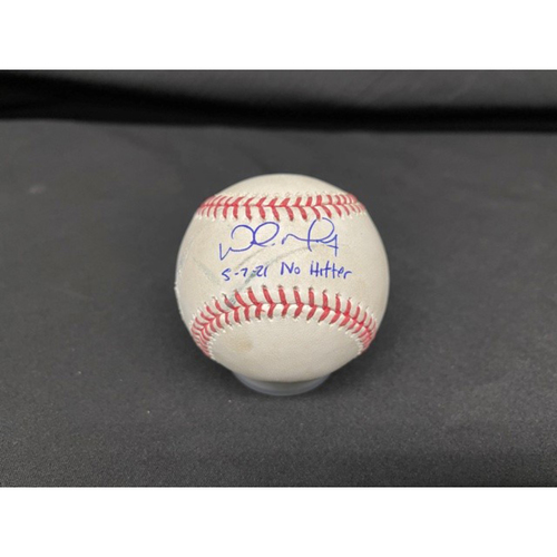 Photo of Wade Miley No-Hitter - *Autographed Game-Used Baseball* - Bot 6 - Wade Miley to Jordan Luplow (Foul) - Inscribed as 5-7-21 No Hitter