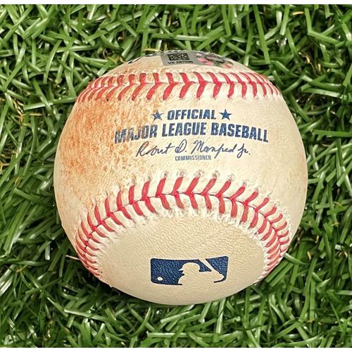 Photo of Game Used Baseball: Jorge Polanco single off Chris Archer - Top 1 - September 4, 2021 v MIN