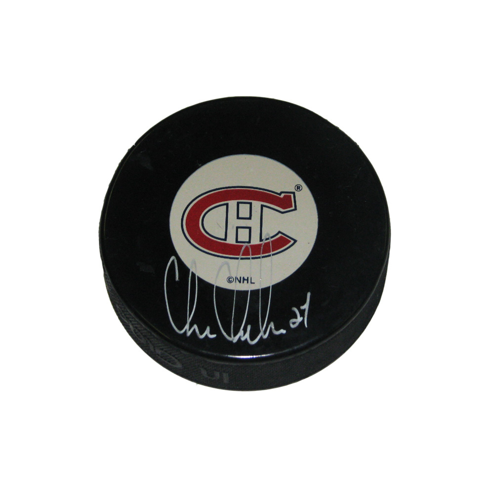 CHRIS CHELIOS Signed Montreal Canadiens Puck