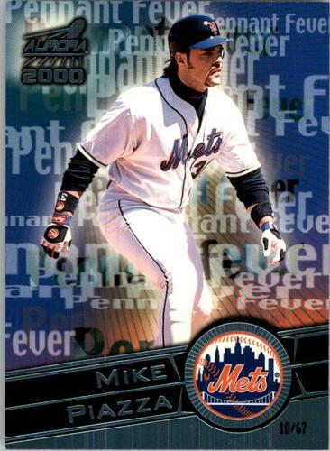 Photo of 2000 Aurora Pennant Fever Platinum Blue #11 Mike Piazza