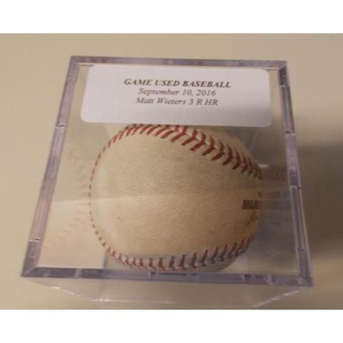 Game-Used Baseball: Matt Wieters 3 Run Home Run
