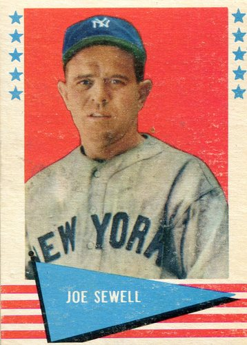 Photo of 1961 Fleer #76 Joe Sewell -- Hall of Fame Class of 1977