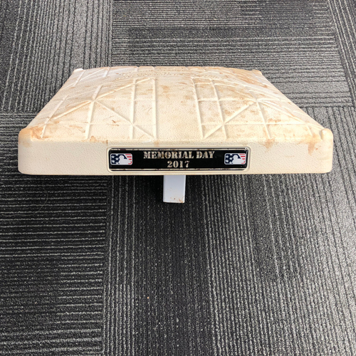 Photo of San Francisco Giants - 2017 Game-Used On-Field Base - 5/29/17 Memorial Day vs. Washington Nationals