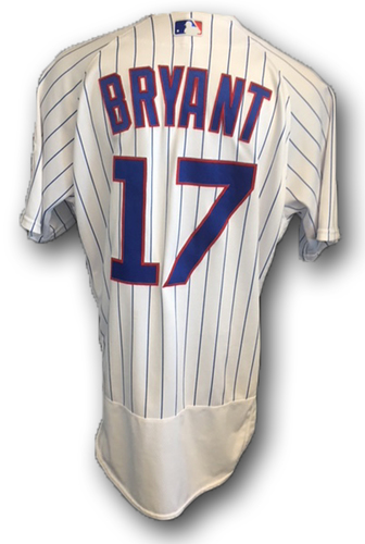 Photo of Kris Bryant Game-Used Jersey -- Bryant 1st Career Start in Leadoff Spot -- Pirates vs. Cubs -- 6/8/18