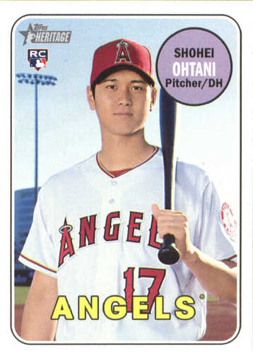 Photo of 2018 Topps Heritage #600 Shohei Ohtani RC