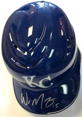 Photo of Whit Merrifield Autographed Royals Batting Helmet