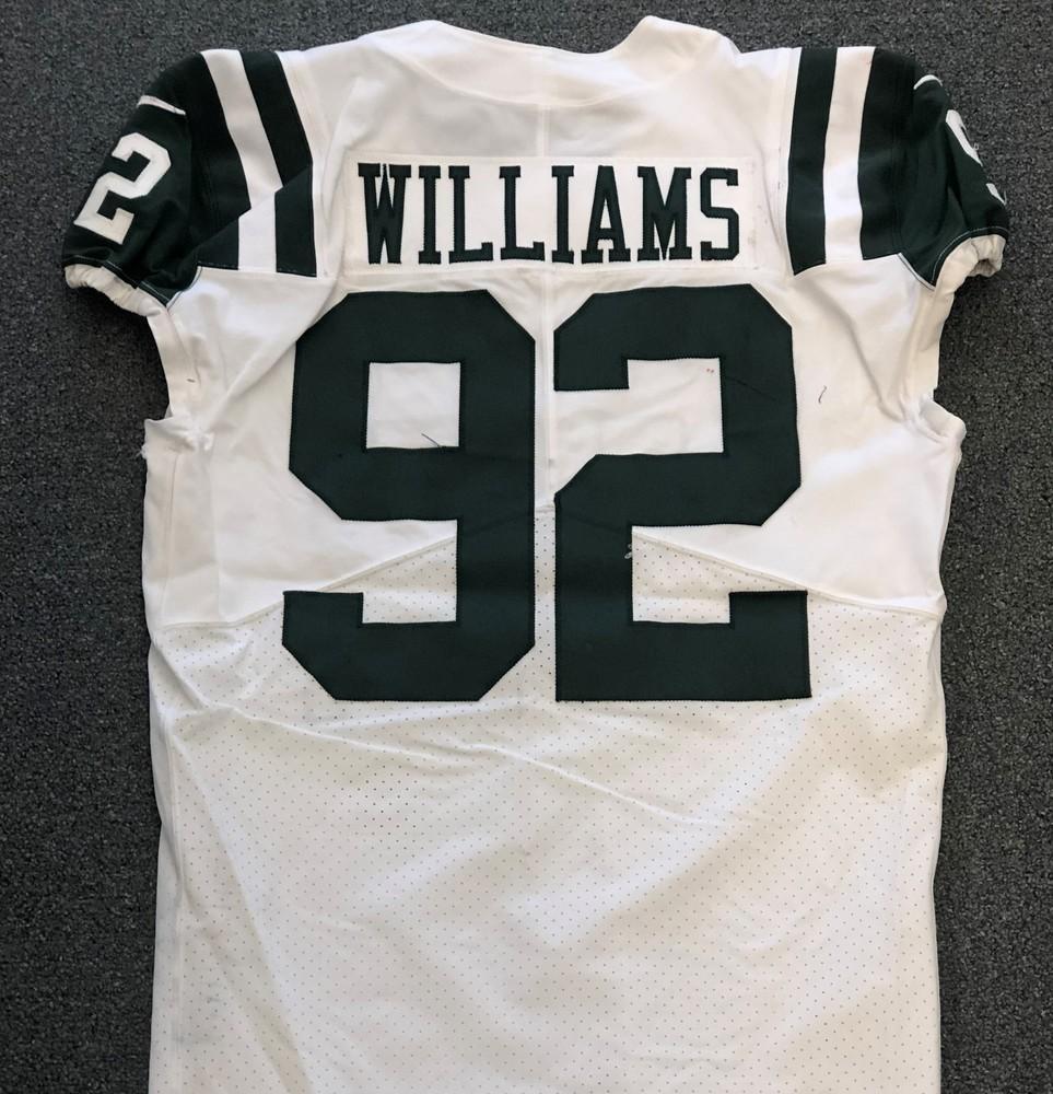 NFL Auction | New York Jets - 2018 #92 Leonard Williams Game Worn ...