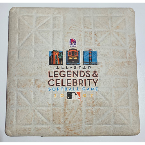 Photo of 2007 All-Star Legends & Celebrity Softball Game Used 3rd Base - July 8th