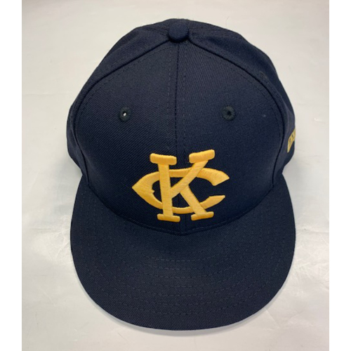Photo of Game-Used Kansas City Monarchs Cap 8-10-2019:  Mike Montgomery