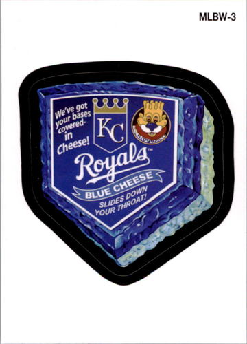 Photo of 2016 Topps MLB Wacky Promos #MLBW3 Royals/Blue Cheese