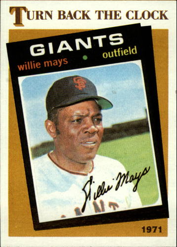 Photo of 1986 Topps #403 Willie Mays TBC