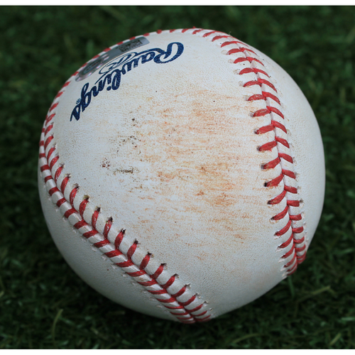 Photo of Game-Used Baseball: Ryan O'Hearn 80th Career Hit (NYM @ KC - 8/16/19)
