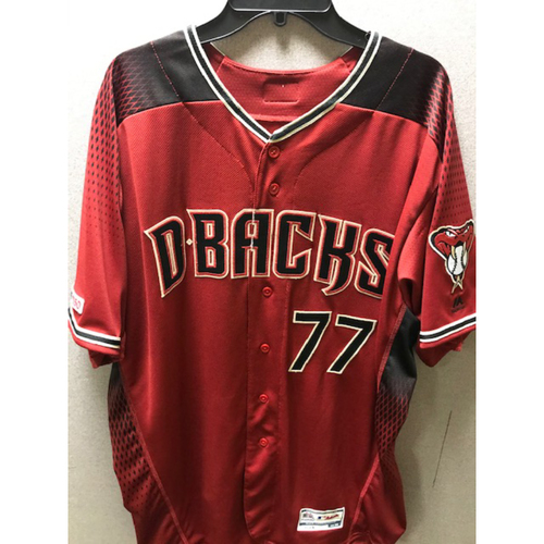 Photo of Eric Hinske 2019 Team-Issued Red Alternate Jersey, Size 52
