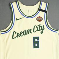 Eric Bledsoe - Milwaukee Bucks - Game-Issued City Edition Jersey - 2019-20 NBA Season Restart with Social Justice Message
