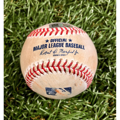 Photo of Game Used Baseball: Alec Bohm single off Aaron Slegers - Alec Bohm Rookie Season - September 26, 2020 v PHI