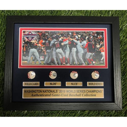 Photo of 2019 World Series Playoff Run Game-Used Baseball Frame