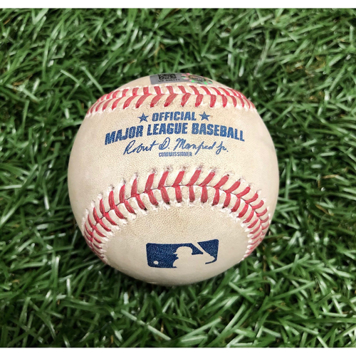 Photo of Spring Training Game Used Baseball: Shane McClanahan strikes out Yairo Munoz - March 9, 2021 v BOS