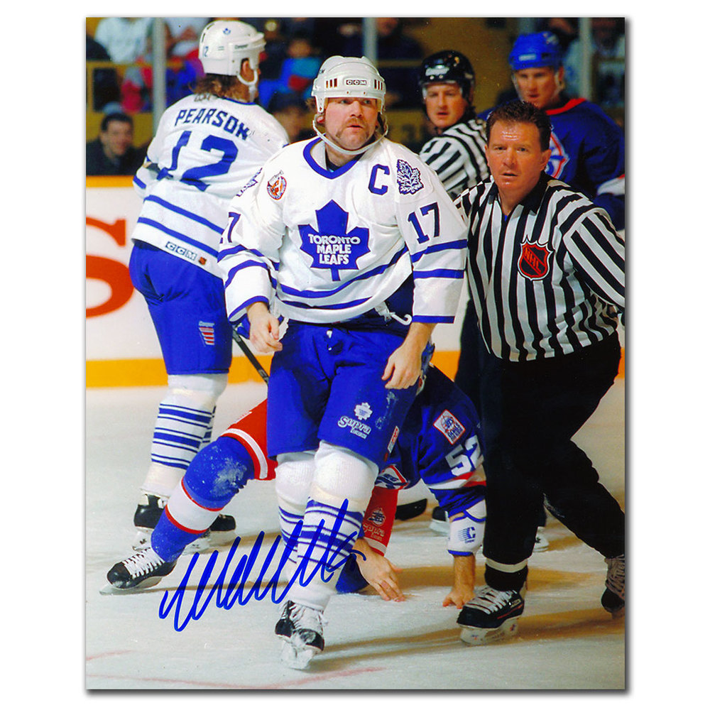 Wendel Clark Toronto Maple Leafs WARRIOR Autographed 8x10