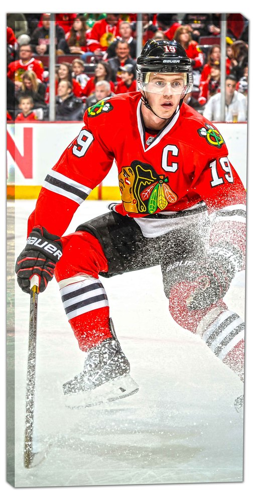 Jonathan Toews - 14x28 Chicago Blackhawks Canvas