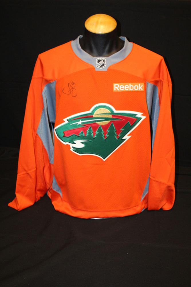 #16 Jason Zucker Autographed Blaze Orange Wild Jersey