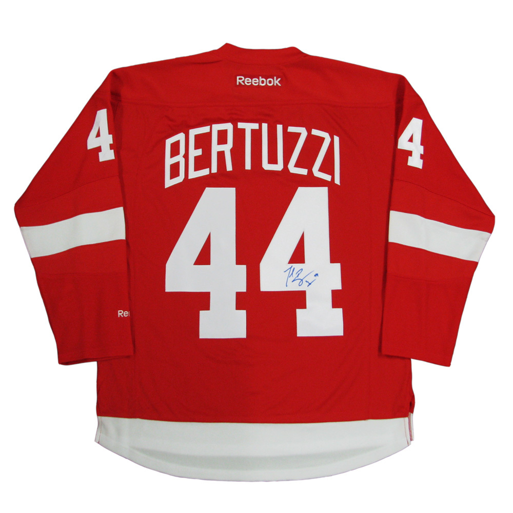TODD BERTUZZI Signed Detroit Red Wings Red Reebok Jersey - NHL ...