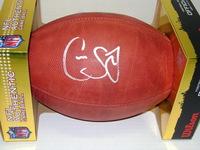 NFL - EAGLES CAYLEB JONES SIGNED AUTHENTIC FOOTBALL