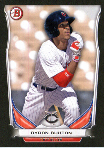 Photo of 2014 Bowman Draft Top Prospects Asia Black #TP69 Byron Buxton -- Twins post-season
