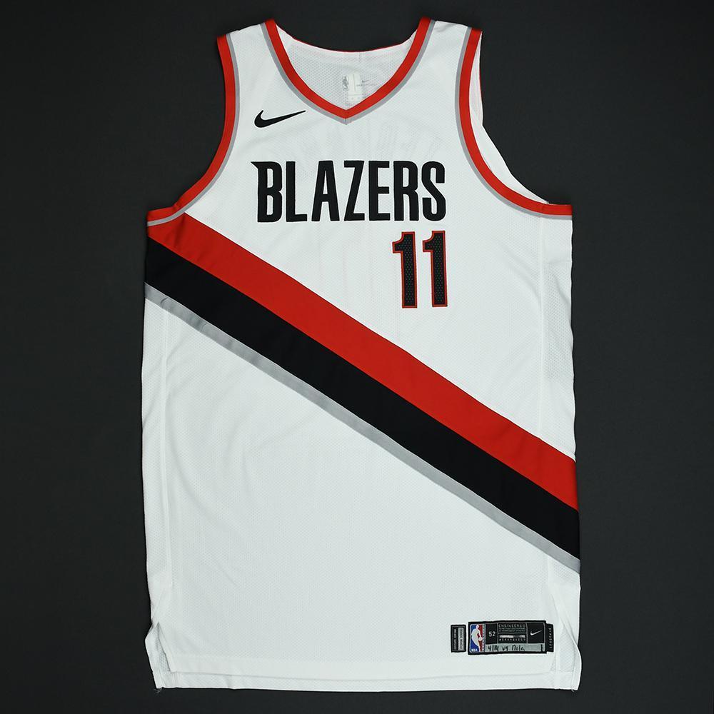 Meyers Leonard - Portland Trail Blazers - 2018 NBA Playoffs Game-Worn Jersey