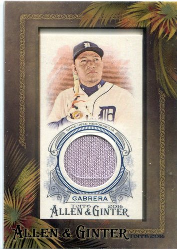 Photo of 2016 Topps Allen and Ginter Framed Mini Relics  Miguel Cabrera