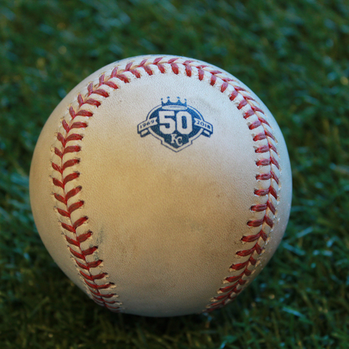 Photo of Game-Used Baseball: Jorge Polanco 268th Career Hit and 136th Career RBI (MIN @ KC- 9/16/18)