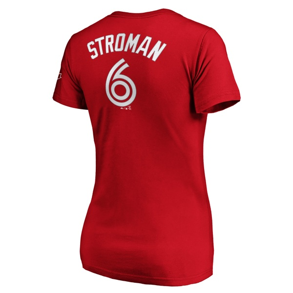 Toronto Blue Jays Women's Marcus Stroman Red Player T-Shirt by Majestic