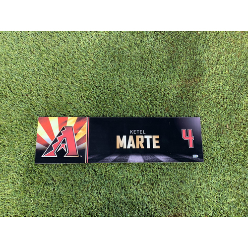 Photo of Ketel Marte 2019 Game-Used Nameplate (6/24/19)